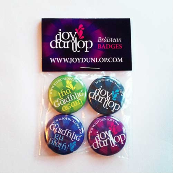Joy Dunlop Pin Badges