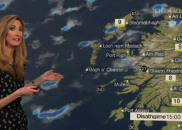 Joy Dunlop presents BBC Weather